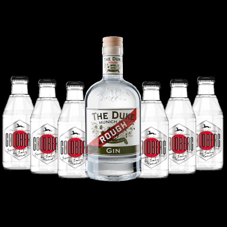Gin & Tonic Set mit THE DUKE Rough Gin und Goldberg Japanese Yuzu Tonic