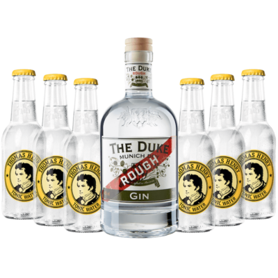 Gin & Tonic Set mit THE DUKE Rough Gin und Thomas Henry Tonic Water