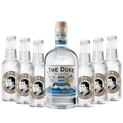 Gin & Tonic Set mit THE DUKE Wanderlust Gin und Thomas Henry Elderflower Tonic