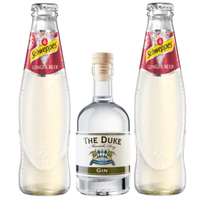 Mini Munich Mule Set mit THE DUKE Munich Dry Gin und Schweppes Ginger Beer
