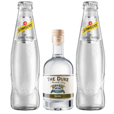 Gin & Tonic Set mit THE DUKE Munich Dry Gin und Schweppes Dry Tonic