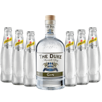 Gin & Tonic Set mit THE DUKE Munich Dry und Schweppes Dry Tonic