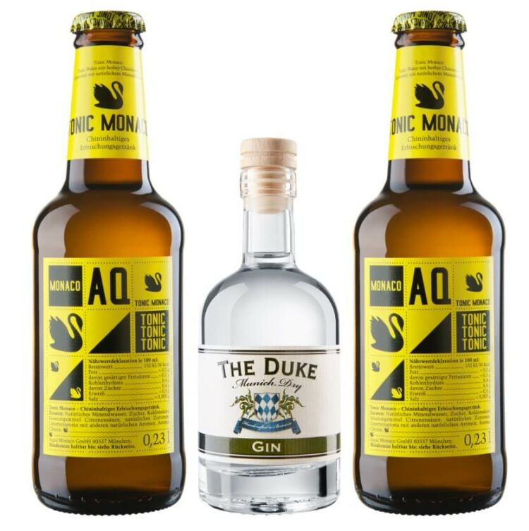 Mini Gin & Tonic Set mit THE DUKE Munich Dry Gin und Aqua Monaco Tonic Water