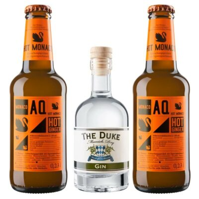 Mini Munich Mule Set mit THE DUKE Munich Dry Gin und Aqua Monaco Ginger Beer