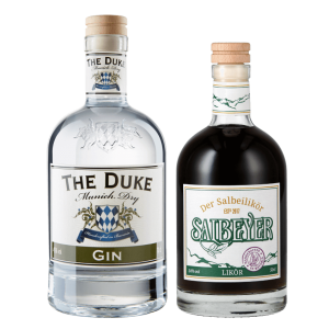 Set mit THE DUKE Munich Dry Gin und Salbeyer Salbei Likör