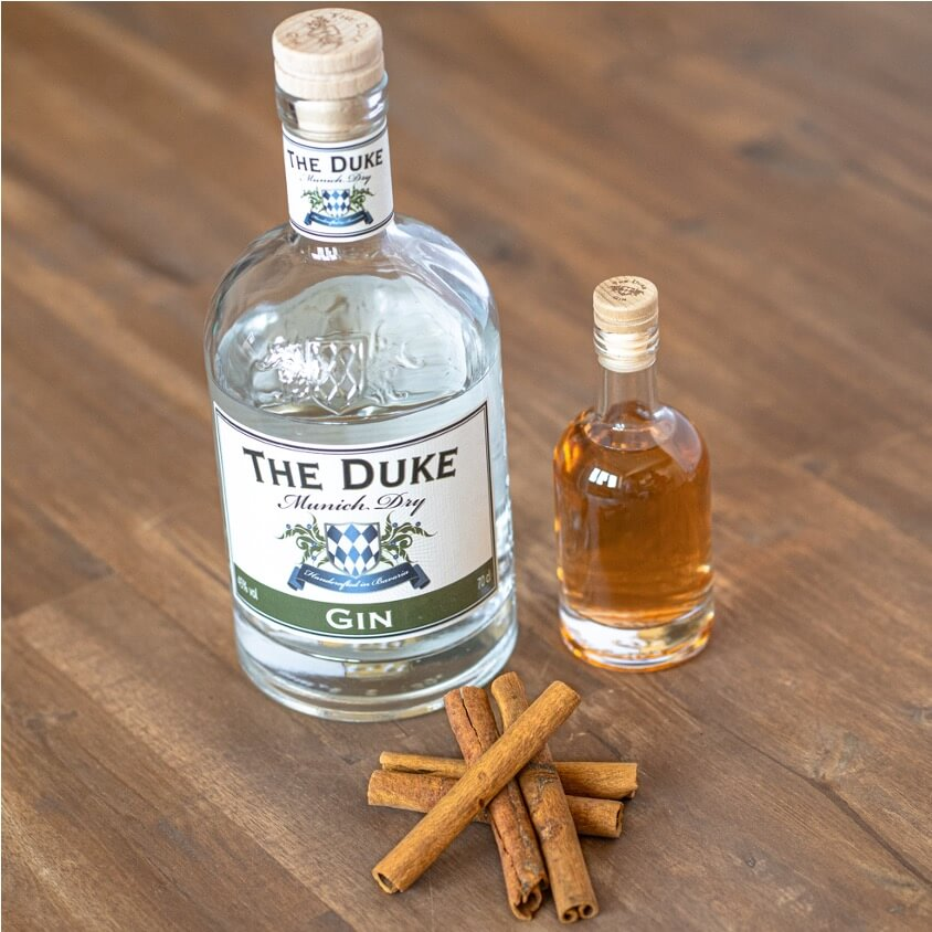 THE DUKE Munich Dry Gin infused mit Zimtstangen