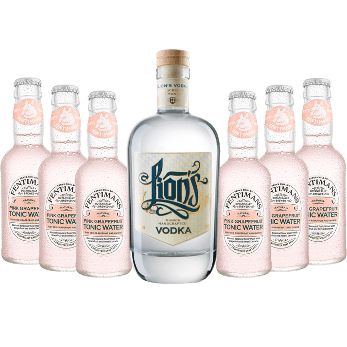 Vodka Tonic Set mit LION's Vodka und Fentimans Pink Grapefruit Tonic Water