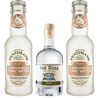 Mini Gin & Tonic Set mit THE DUKE Munich Dry Gin & Fentimans Connoisseurs Tonic Water