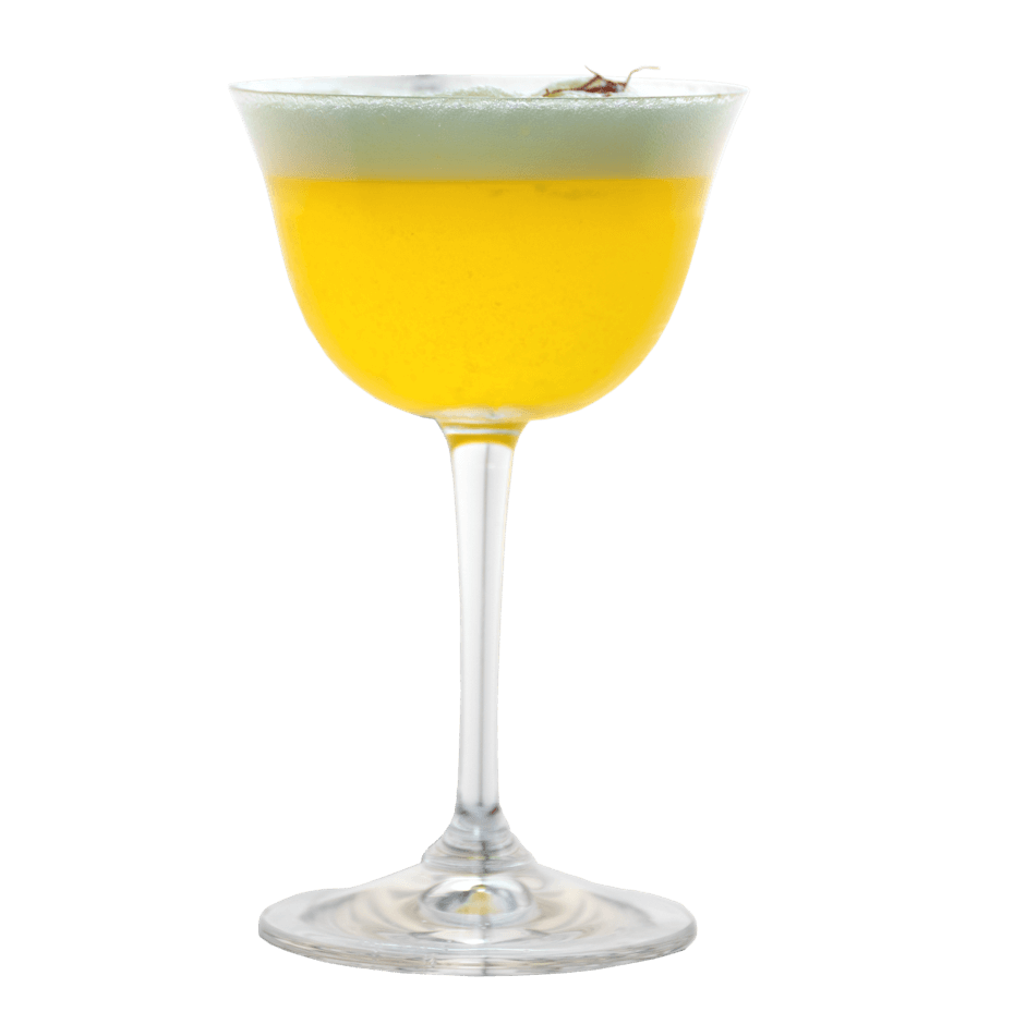 Gin Sour mit Safran infusioniertem THE DUKE Rough Gin