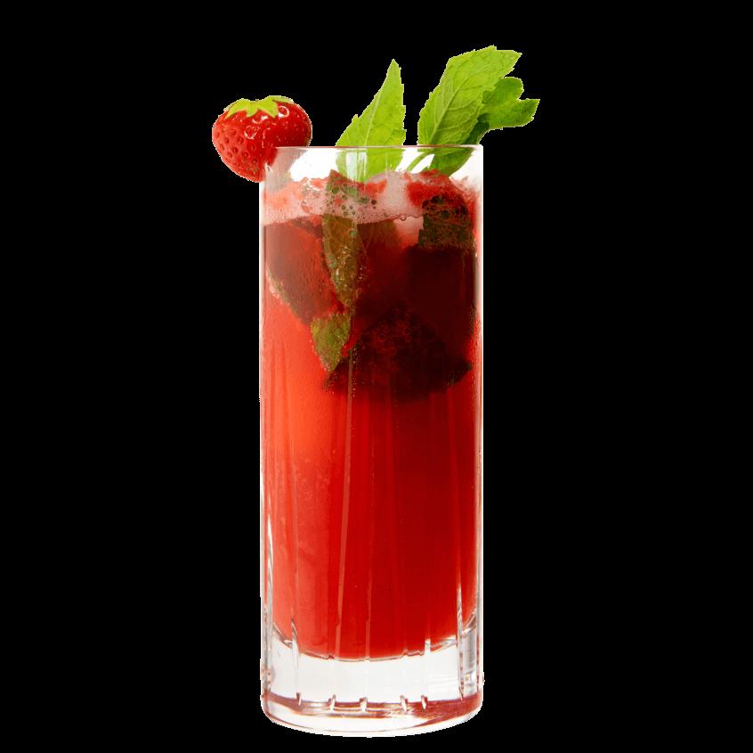 Gin & Tonic Variation mit THE DUKE Gin, Erdbeeren und Minze