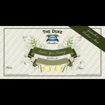 Gutschein für ein Online Gin Tasting der THE DUKE Destillerie - einlösbar im THE DUKE Online Shop