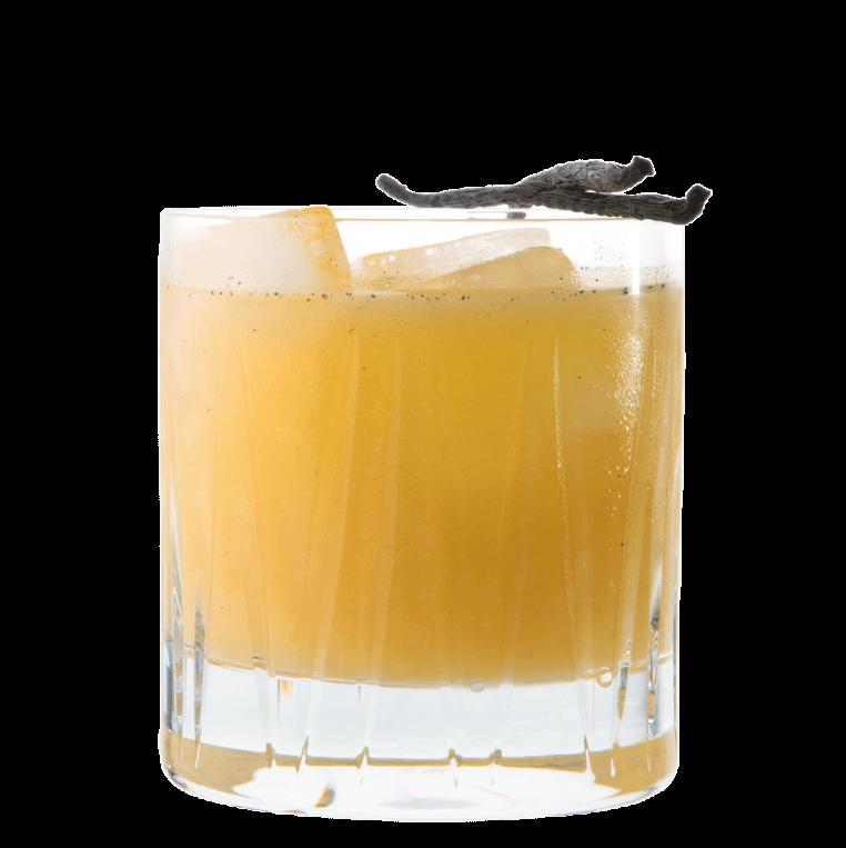 Drink mit THE DUKE Wanderlust Gin, Limetten Saft, Birnen Saft und Vanille
