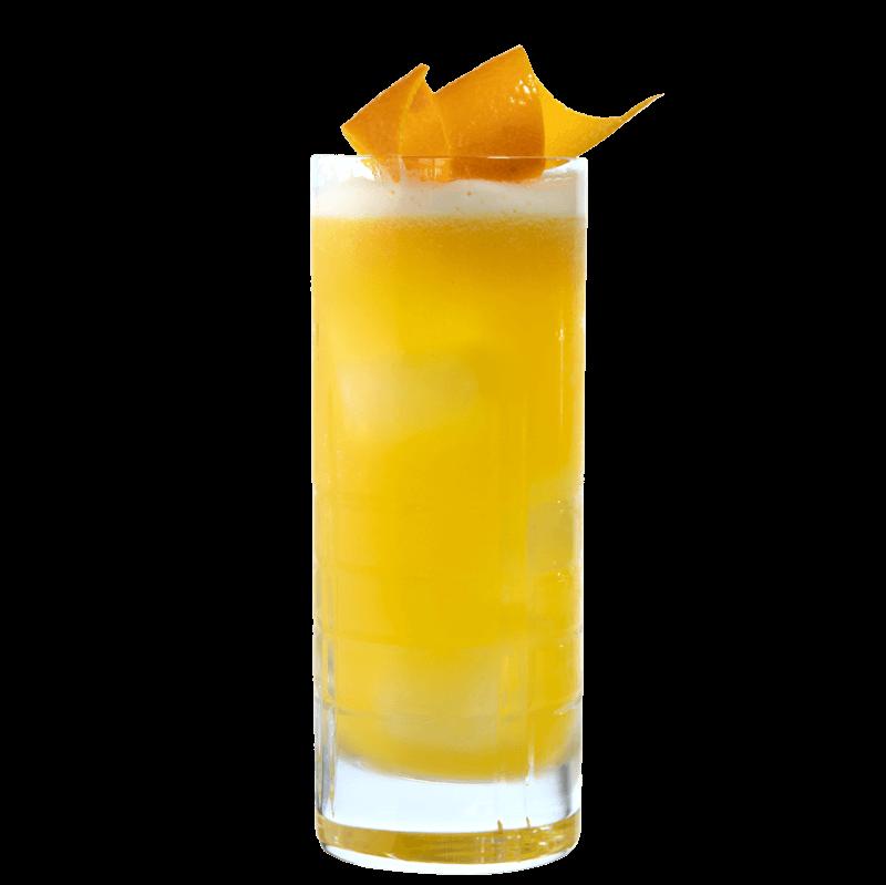 Drink mit LION's Vodka, Maracuja Saft und Mango Saft