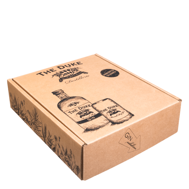 Geschenk Box Gin Tasting Set in THE DUKE Box mit drei Gins und Tonic Water