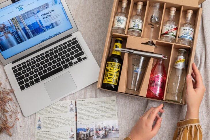 Gin Tasting Set für Online Gin Tastings mit THE DUKE Gin und Tonic Water