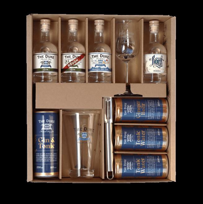 Inhalt des The Duke Gin Tasting Sets