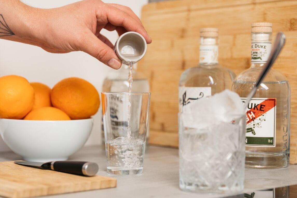 Gin in Longdrinkglas