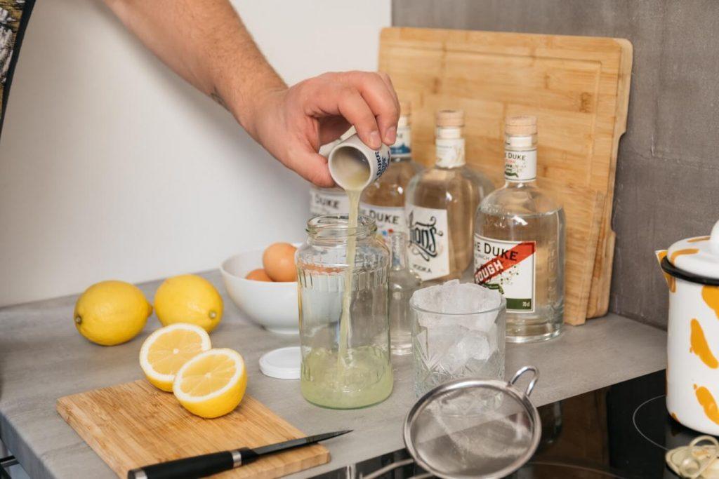 Zitronensaft für Gin Sour