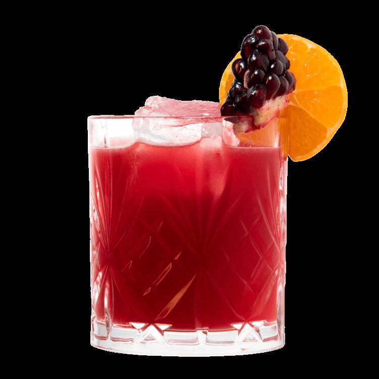 Gin Drink mit Granatapfel, Mandarinensaft und THE DUKE Wanderlust Gin
