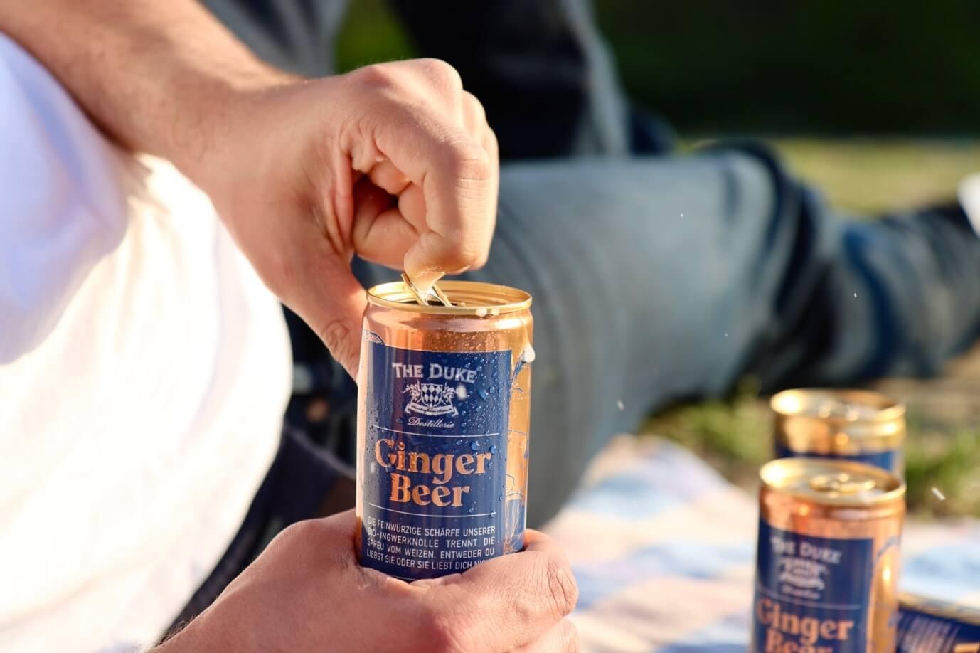 THE DUKE Bio Ginger Beer in der Dose