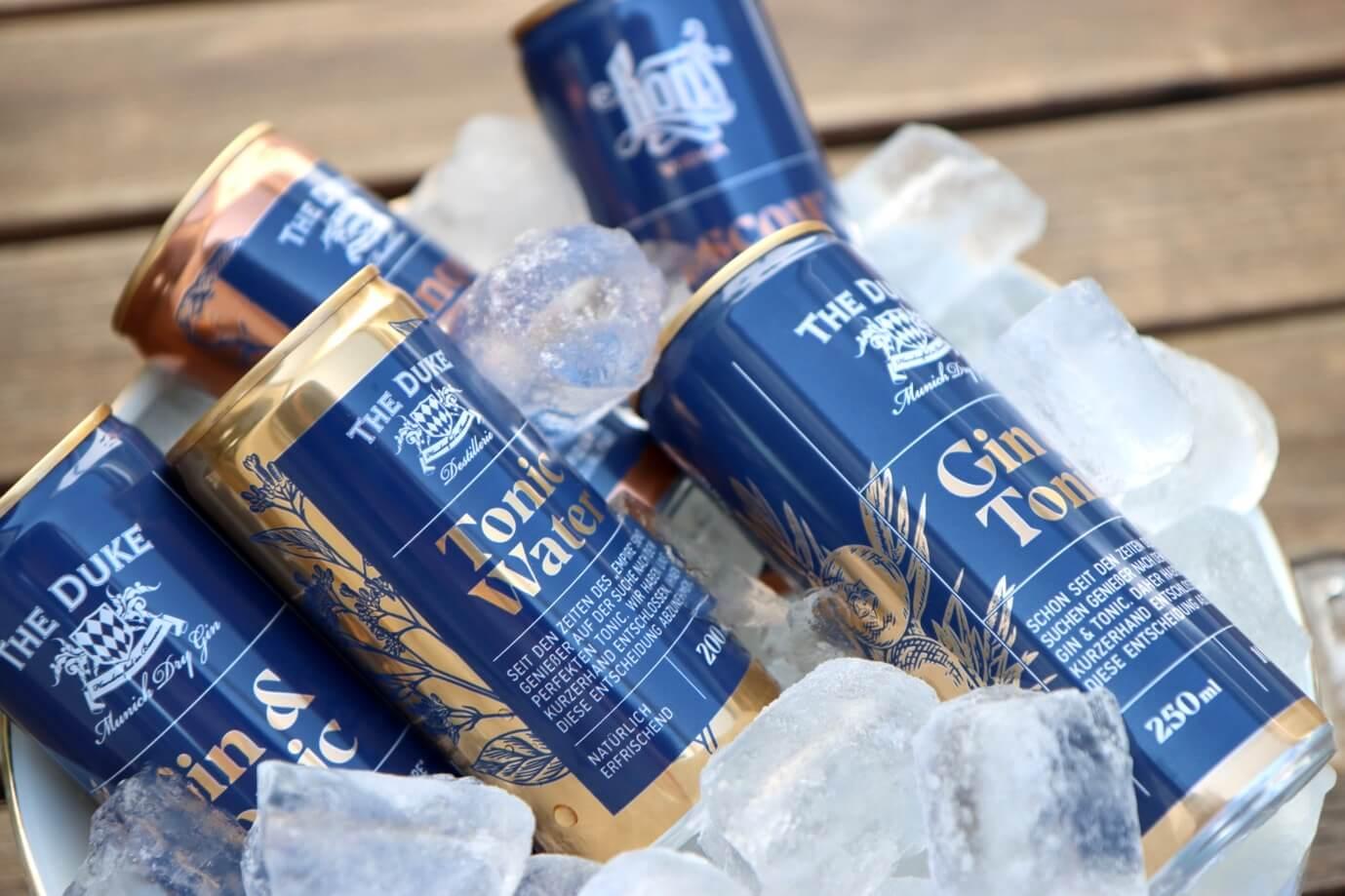 THE DUKE Tonic Water, Gin & Tonic in der Dose im Eis