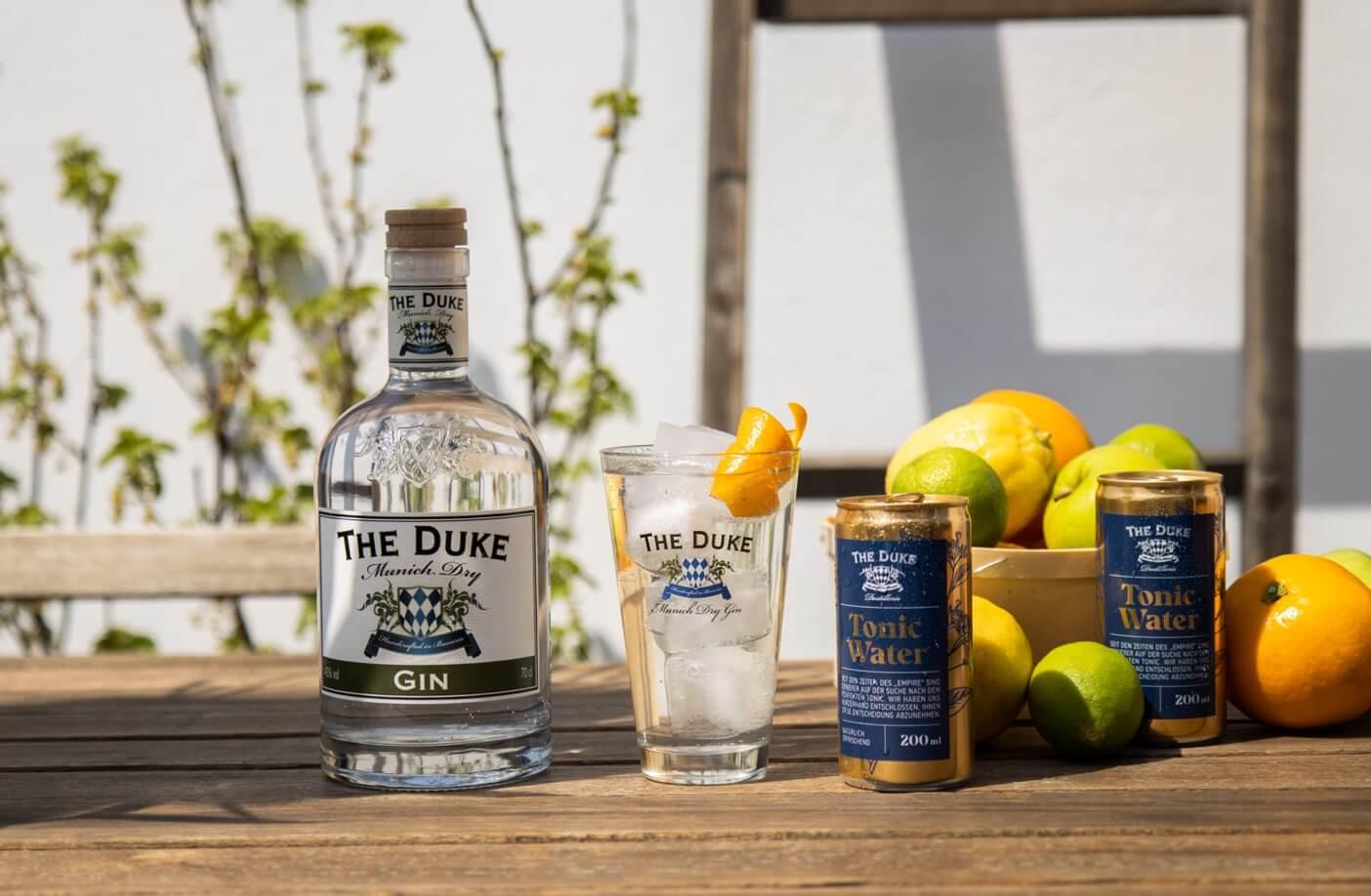 Gin & Tonic mit THE DUKE Tonic Water und Munich Dry Gin