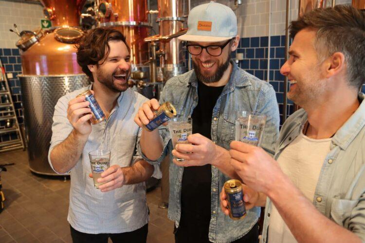 Die Band Whale City beim Gin Tasting in der THE DUKE Destillerie
