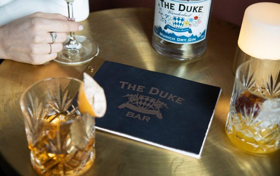 Getränke Karte der THE DUKE Bar