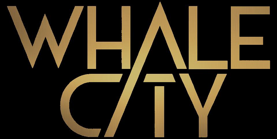 WHALE CITY Logo mit THE DUKE