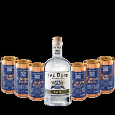 Bundle mit THE DUKE Gin und 6 Dosen Bio Ginger Beer