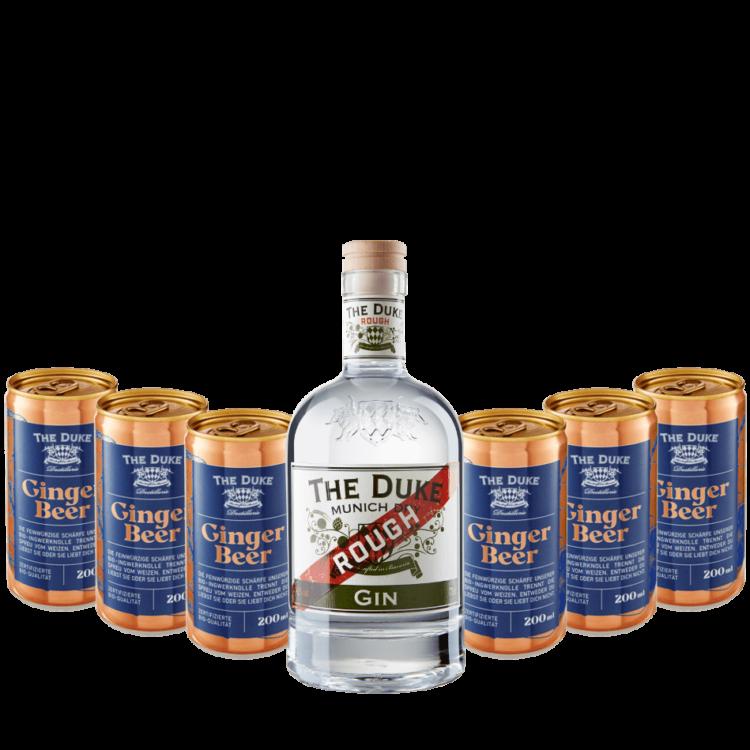 Bundle mit THE DUKE Rough Gin und 6 Dosen Bio Ginger Beer